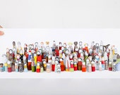 Kids photo print - Medium-sized poster -vivid photo of fabric modern colorful dolls characters crowd, from Timo handmade family dolls series
