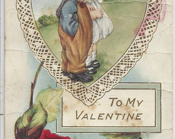 "Antique ""To My Valentine"" Postcard, 1910s"