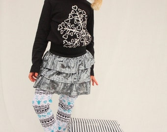 girls christmas, Christmas leggings, reindeer leggings,
