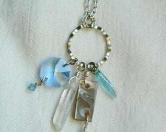 Sea Blues Chatelaine Necklace