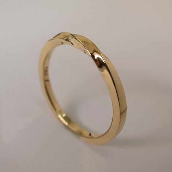 mobius ring 14k gold ring wedding ring gold wedding With mobius wedding ring