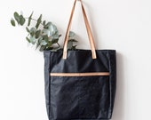 Xmas SALE Large Waxed Canvas Tote bag No.Tw- 1071