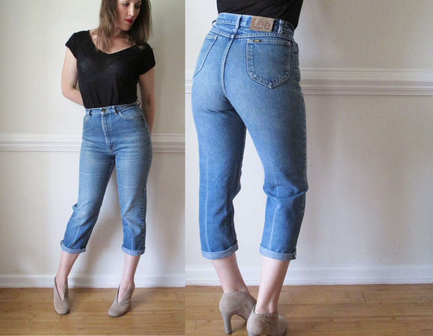 80s 90s High Waist Jeans / 1980s 1990s Grunge by RavishingRuby