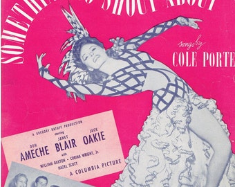 Vintage Sheet Music You'd Be So Nice to Come Home To 1940s Songs by Cole Porter Something to Shout About