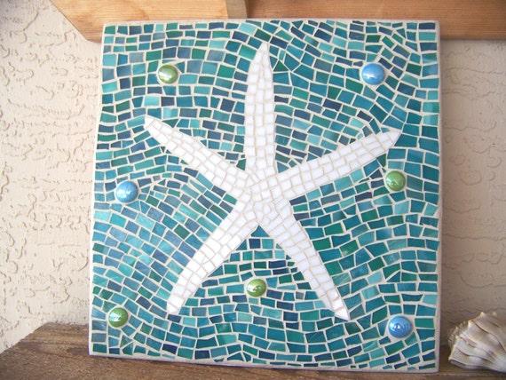 Cute Mosaic Starfish Wall Art