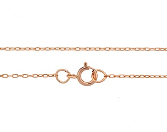 14Kt Rose Gold Filled 1.5x1mm 30 Inch Drawn Cable Neck chain with clasp - 1pc (6831) 10% Discounted High Quality Shiny Finished Chain