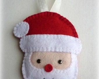 Felt Santa Handmade Ornament