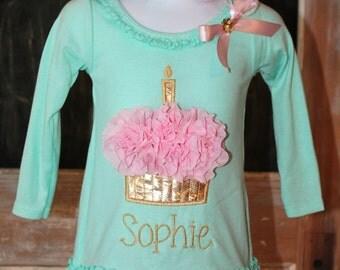 Boutique Birthday Dress -Personalized Birthday Dress - Birthday Dress - 1st Birthday Dress - Cupcake Dress - Girls Birthday Dress