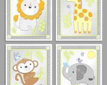 M2M Circo SNOOZ 'n SAFARI Collection, Prints, Cute African Animal Art, Jungle Animal Decor, Safari Theme, Nursery Baby/Kid's Room Decor