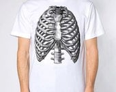 Mens vintage ribs anatomy t shirt- american apparel white- available in s, m, l, xl, xxl-- Worldwide Shipping