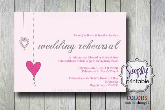 Wedding Rehearsal Dinner Invite