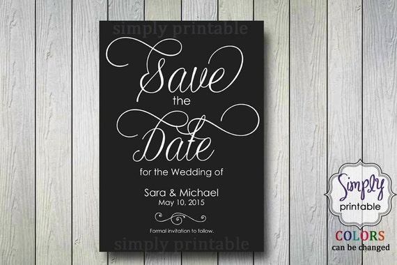 Save the Date Grey & White