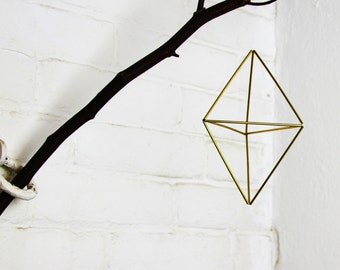 Double pyramid Geometric air planter ornament - Scandinavian himmeli ornament