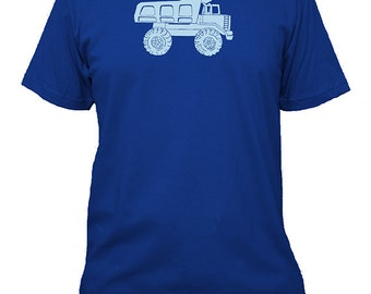 Dump Truck Mens Shirt - Truck Construction Tee - Mens Cotton TShirt - Gift Friendly