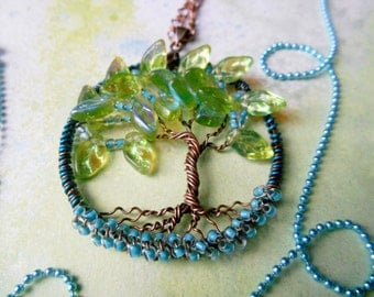 Tree of life necklace, Spring Promises, Tree Necklace, Nature Pendant, OOAK