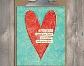 Christian Gift, Scripture art, Guard Your Heart, Christian art print