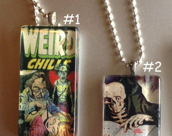 Creepy and Weird Comic Necklaces
