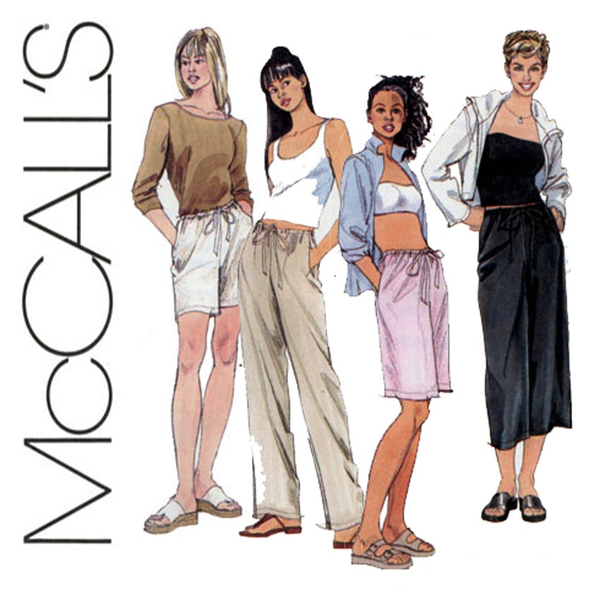 Easy Drawstring Pants Pattern McCalls 2606 23 To 28 By