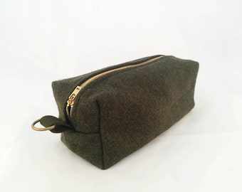 Men's Toiletry Bag - Olive Military Blanket