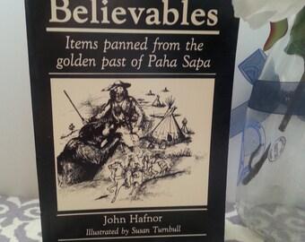 Vintage Books, Vintage Items, Used Book, Rare Book, Old Book, Black Hills Believables by John Hafnor