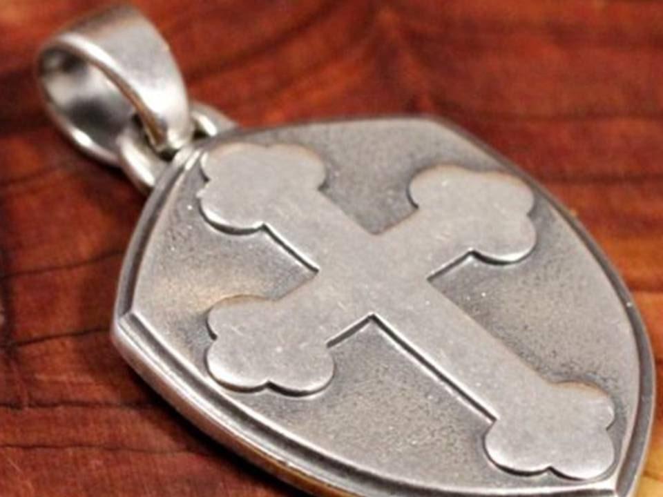 Vintage Silver James Avery Cross Shield By Cherishedsaints