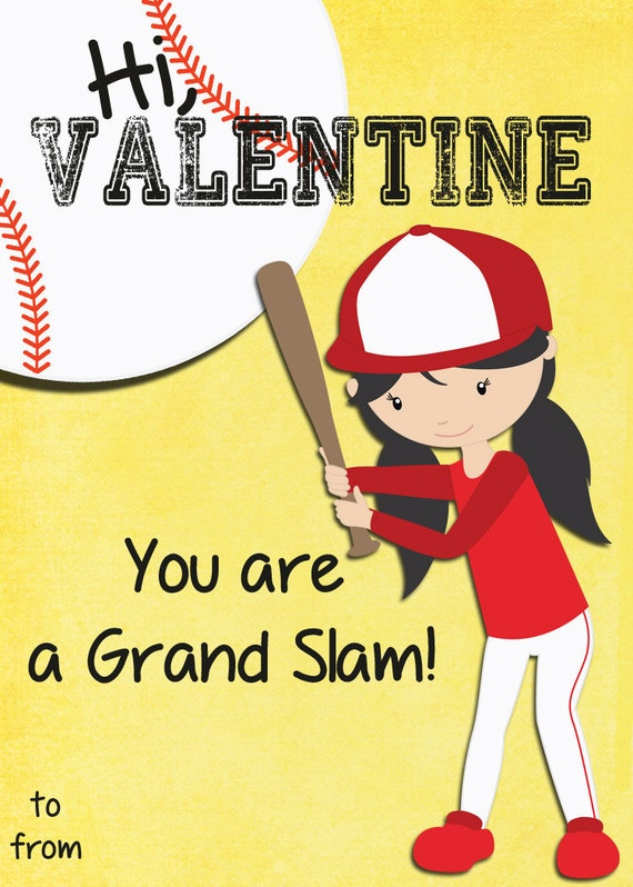 Instant Download Classroom Printable Valentines Day Cards Kids – Sports Valentines Cards