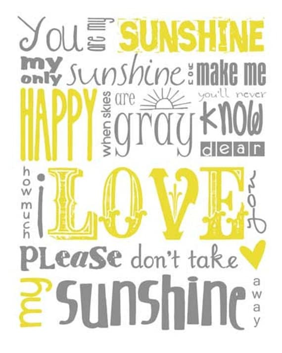Decisive image throughout you are my sunshine printable