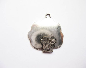 5 Tree Charms in Silver Tone - C2032