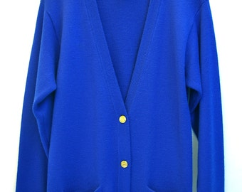 Electric Blue Nordstrom Cardigan Sweater