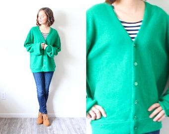 Vintage Large // Lacoste look alike green oversized sweater // cozy sweater // green sweater // oversized Lactoste
