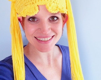 Made to Order, Crocheted Sailor Moon inspired hat