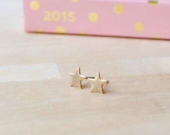 Little Star Earrings | Tiny Gold Earrings | Nickel Free Earrings | Delicate Gold Jewellery
