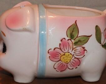 Vintage Relpo Piggy Bank Planter