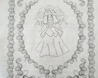 Quilting Pattern, Kristyne's Angel, Continuous Line Quilting Template, Kathleen Huxoll Angel Series #1, Golden Threads KA001, 1998
