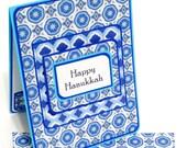 Happy Hanukkah Card with Matching Embellished Envelope