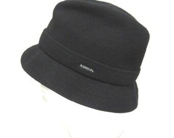 Black Cloche Hat Ladies Millinery Kangol Wool