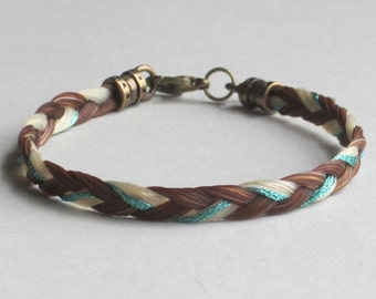 Sorrel and White Bracelet with Colored Thread
