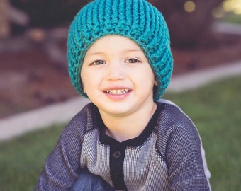Crochet Pattern for Chunky Ribbed Beanie -7 sizes, newborn to large adult - Welcome to sell finished items