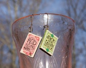 Jack and the Bean Stalk and Little Red Riding Hood Classic book and Fairy Tale earrings