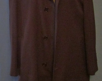 SALE 20% OFF Mens Dark Brown Wool And Trevira Coat by Croydon Nino Flair Excellent Condition Tag Size 44 Reg