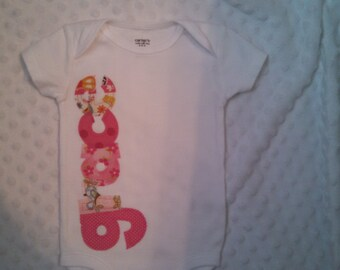 Personalized Custom Name Onesie for baby girls