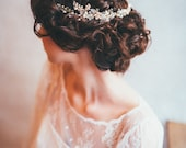 Ornate Beaded and Crystal Hair Vine - As seen on Swooned Magazine
