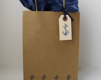 Anchor's Away Gift bags, Anchor gift bags, Nautical gift bags, destination wedding welcome bags.