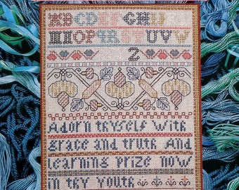 Symbol Of Excellence SAMPLER & ANTIQUE NEEDLEWORK Quarterly Vol. 18 - Counted Cross Stitch Chart Magazine