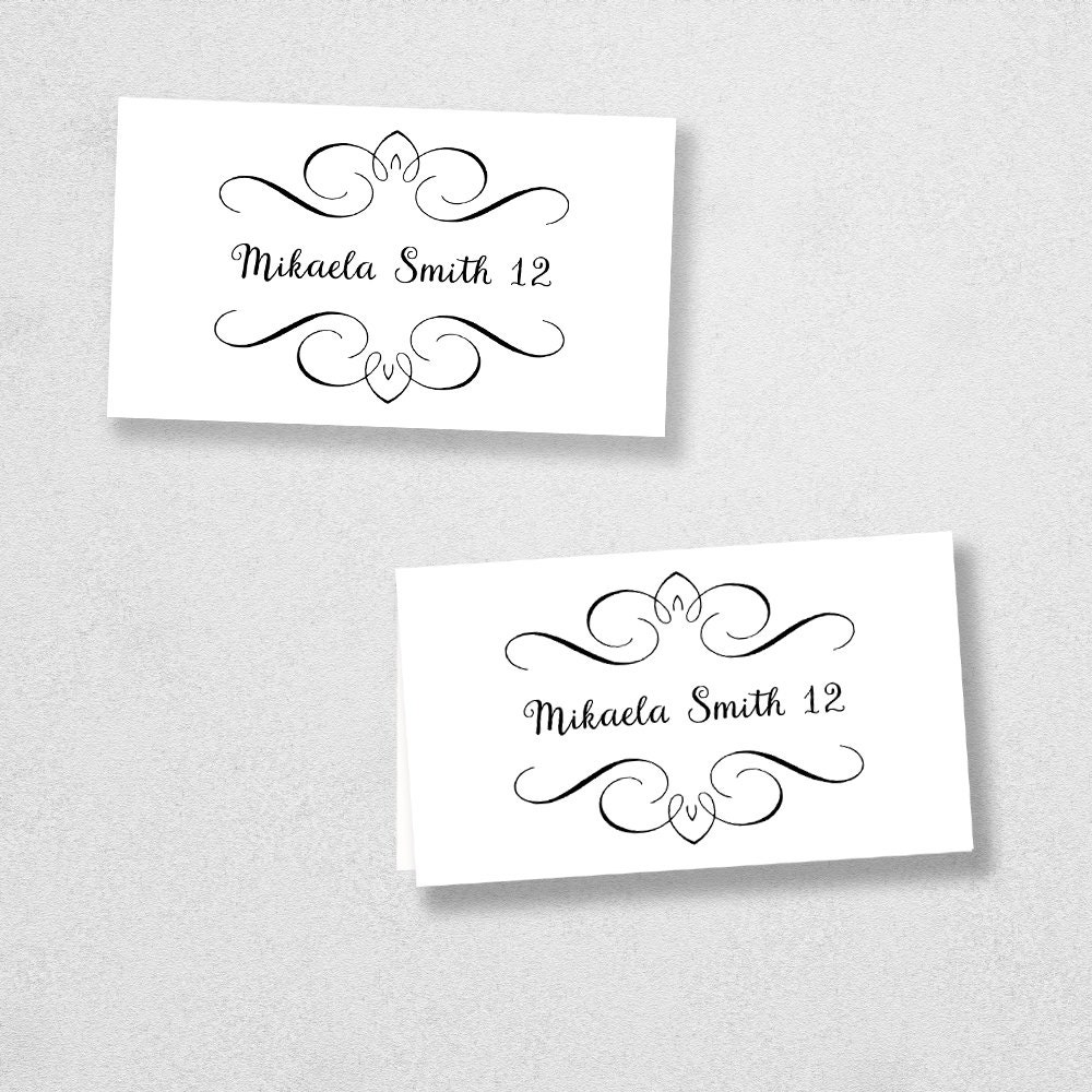 It's just a graphic of Modest Printable Escort Cards