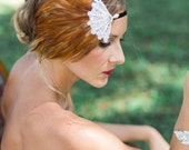BABETTE feather  flapper headband, great gastby headband, Art Deco 1920's headband, fashion headband