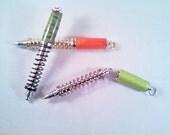 Shock Absorber Pen - Chrome & Black Enamel Coil Spring  - SAP-9446