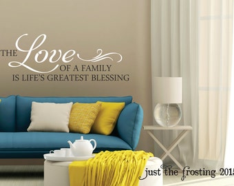 Family Wall Decal   Bedroom Decor Love Wall Decal   Family Blessing Vinyl Wall  Quote Decals