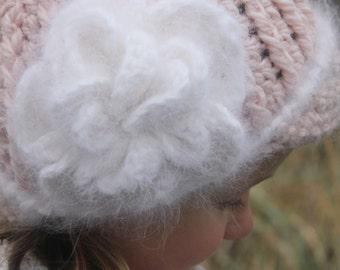 Crochet Flower Pattern: 'Petunia Blossom' Hat Flower Embellishment