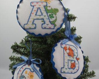 Care Bears Alphabet Cross Stitched Ornaments